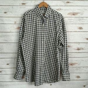 Peter Millar Navy & Cream Check Button Down Shirt